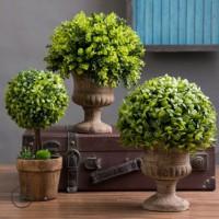 仿真植物北欧装饰绿植小盆栽室内客厅桌面塑料假花球盆景植物摆件